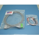New 3 Lead GE / Marquette EKG / ECG Cable with Snap Leads