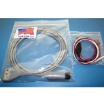 New 3 Lead, 6-Pin EKG / ECG Cable for Spacelabs, Invivo & Others with Alligator Leads