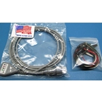 New 5 Lead, 8-Pin EKG / ECG Cable for Hewlett Packard / Agilent / Philips with Alligator Leads
