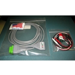 New 5 Lead GE / Marquette EKG / ECG Cable with Snap Leads