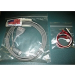 New 3 Lead, 12-Pin EKG / ECG Cable for Hewlett Packard / Agilent / Philips with Snap Leads