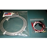 New 3 Lead, 12-Pin EKG / ECG Cable for Hewlett Packard / Agilent / Philips with Alligator Leads