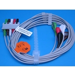 New 5 Lead EKG Wire Set Multi-Link Patient Cable for Siemens / Drager Patient Monitors