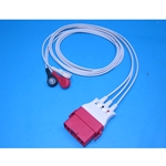 New 3 Lead Zoll OneStep ECG Lead Wires for Zoll R Series Defibrillators