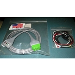 New 5 Lead GE / Marquette EKG / ECG Cable with Alligator Leads